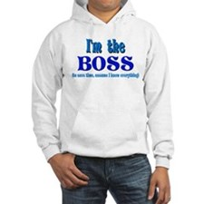 I'm the Boss- Blue Hoodie