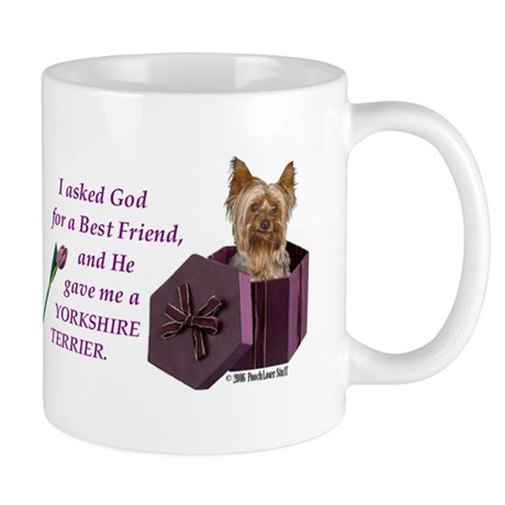 """God Gave Me A Yorkshire Terrier"" Mug ( Yorkie ) M"