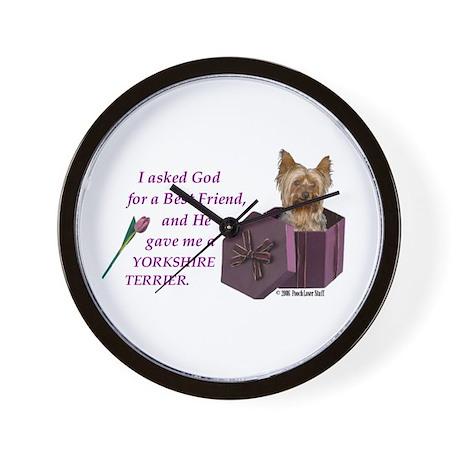 """God Gave Me A Yorkshire Terrier"" Wall Clock ( Yor"