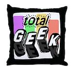 Cool Colors Total Geek Throw Pillow
