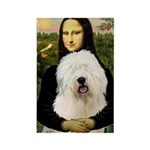 Mona's Old English Sheepdog Rectangle Magnet