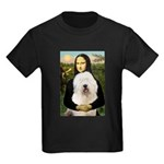 Mona's Old English Sheepdog Kids Dark T-Shirt