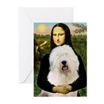Mona's Old English Sheepdog Greeting Cards (Pk of
