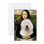 Mona's Old English Sheepdog Greeting Cards (Pk of