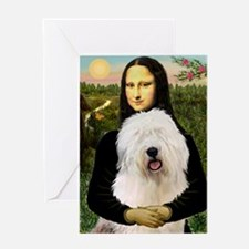 Mona's Old English Sheepdog Greeting Card