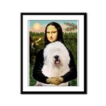 Mona's Old English Sheepdog Framed Panel Print