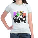 Cool Colors Total Geek Jr. Ringer T-Shirt