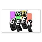 Cool Colors Total Geek Rectangle Sticker