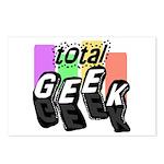 Cool Colors Total Geek Postcards (Package of 8)