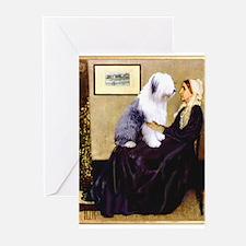 Mom's Old English Sheepdog Greeting Cards (Pk of 1