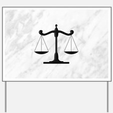 Scales of Justice Yard Sign