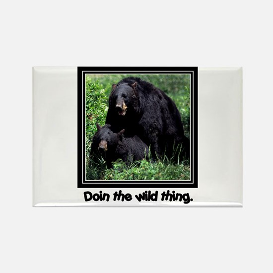 Wild Thing Bear Rectangle Magnet