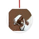 Boer Goat Ornament (Round)