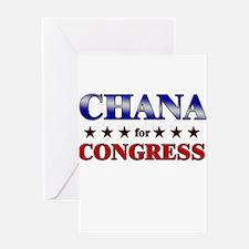 CHANA for congress Greeting Card