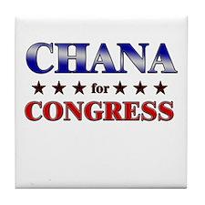 CHANA for congress Tile Coaster