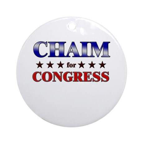 CHAIM for congress Ornament (Round)