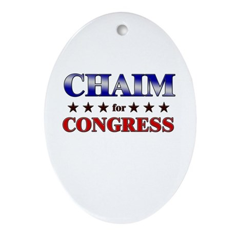 CHAIM for congress Oval Ornament