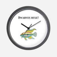 Cichlid Dwarves Rule! Wall Clock