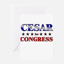 CESAR for congress Greeting Card