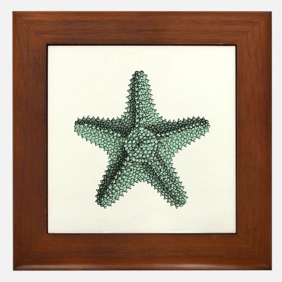 Vintage Starfish Framed Tile