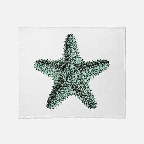 Vintage Starfish Throw Blanket