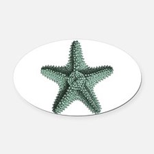Vintage Starfish Oval Car Magnet