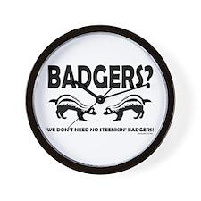 Steenkin' Badgers Wall Clock