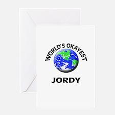 World's Okayest Jordy Greeting Cards