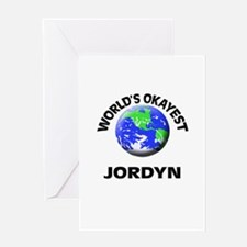 World's Okayest Jordyn Greeting Cards