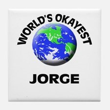 World's Okayest Jorge Tile Coaster