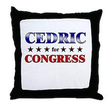 CEDRIC for congress Throw Pillow