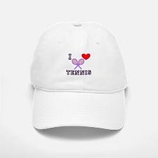 I Love Tennis Purple Baseball Baseball Cap