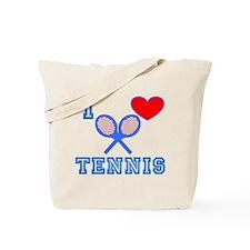 I Heart Tennis Blue Tote Bag
