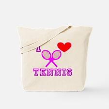 I Heart Tennis Pink Tote Bag