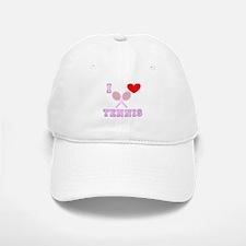 I Heart Tennis Light Pink Baseball Baseball Cap