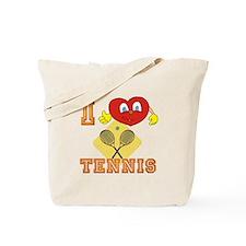 I Heart Tennis Smiley Tote Bag