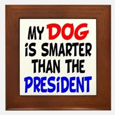 Dog Smarter Than-2 Framed Tile