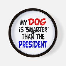 Dog Smarter Than-2 Wall Clock