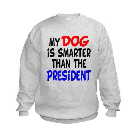 Dog Smarter Than-2 Kids Sweatshirt