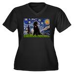 Starry / Std Poodle(bl) Women's Plus Size V-Neck D