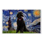 Starry / Std Poodle(bl) Sticker (Rectangle)