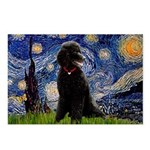 Starry / Std Poodle(bl) Postcards (Package of 8)
