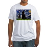 Starry / Std Poodle(bl) Fitted T-Shirt