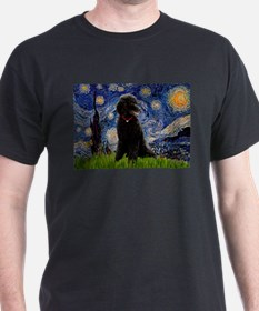 Starry / Std Poodle(bl) T-Shirt