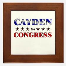 CAYDEN for congress Framed Tile