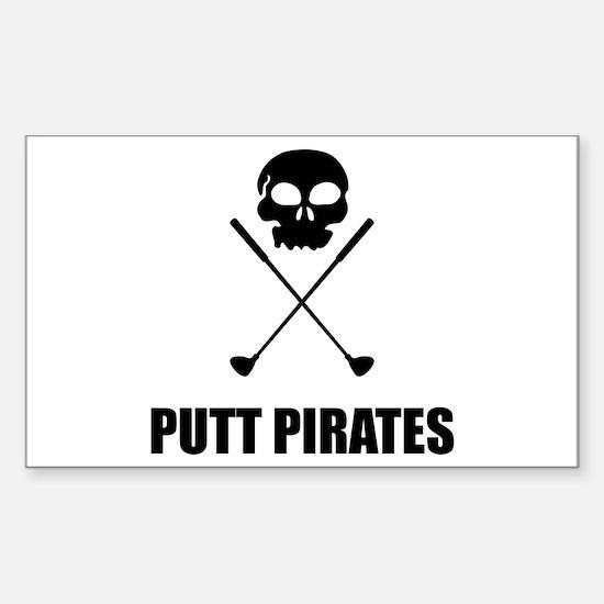 Golf Skull Crossed Putt Pirates Decal