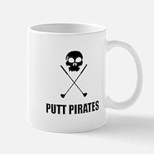 Golf Skull Crossed Putt Pirates Mugs