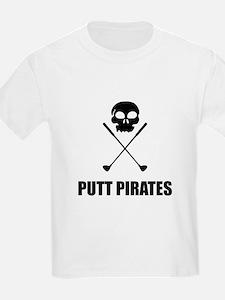 Golf Skull Crossed Putt Pirates T-Shirt