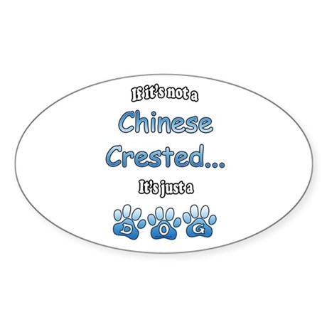 Crested Not Oval Sticker