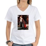 Accolade / Std Poodle(b) Women's V-Neck T-Shirt